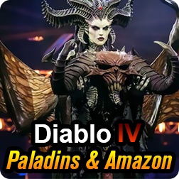 Rumor Claims: Diablo IV will release Paladins and Amazon Classes
